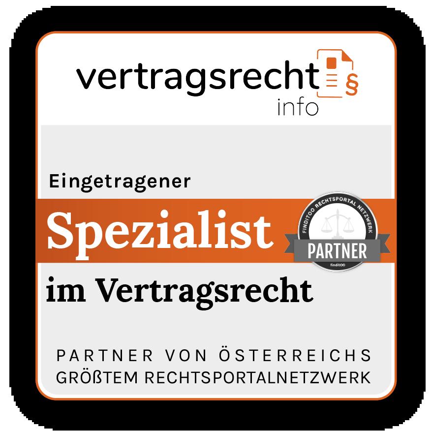 Siegel Vertragsrechtsinfo.at eingetragener Partner